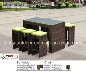 Fashion Outdoor Aluminum Synthetic Rattan Bar Set pictures & photos