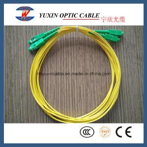 3m LSZH or PVC Sm Duplex 2.0mm Sc/APC-Sc/APC Fiber Optic Patch Cord
