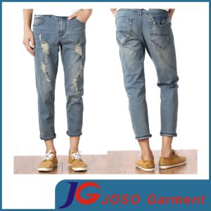 Fashion Destroyed Slim Ripped Jeans Trousers for Boys (JC3358) pictures & photos