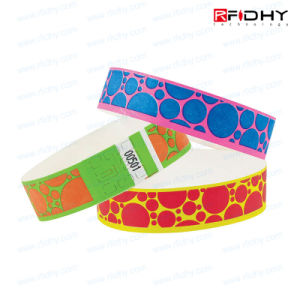 Beautiful and Cheap Single Day Use Tyvek RFID Wristband for Exhibition Events pictures & photos