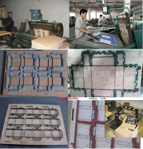 Cardboard Die Cutting and Creasing Machine pictures & photos