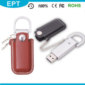 Promotional Gift Custom Metal PU Leather USB Flash Drive pictures & photos