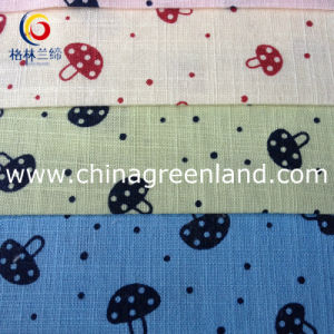 Cotton Imitate Linen Printed Fabric for Baby Garment Textile (GLLML100) pictures & photos