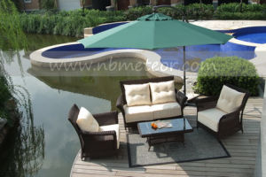 Mtc-005 Luxury Outdoor Rattan Furniture with Pillow and Cushion pictures & photos