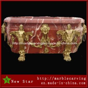 Customer Design Cooper Red Marble Bath Tubs pictures & photos