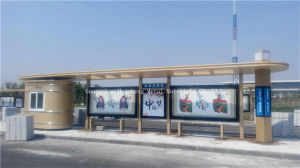 Stainless Steel Bus Shelter for Station (HS-BS-E025) pictures & photos