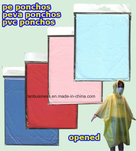 PEVA Colourful and Disposable Poncho (LY-PR-001) pictures & photos