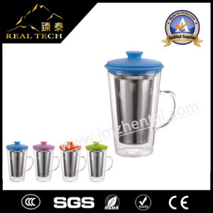 Borosilicate Material Heat-Resistant Double Wall Glass Cup for Sale