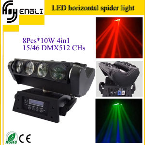 8 Mini Eyes 10W LED Moving Head Stage Lighting (HL-016YT) pictures & photos
