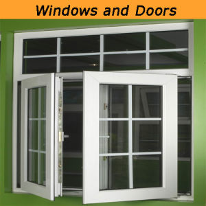 Latest Thermal Break UPVC Window with Grills pictures & photos
