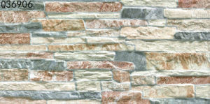 3D Ceramic Stone Rustic Exterior Wall Tile for Outdoor (300X600mm)