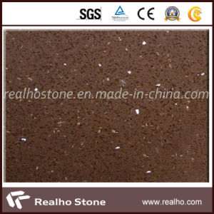 Brown Artificial Quartz Stone Tile for Wall