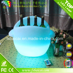 LED Lighted Plastic Ice Bucket for Serving Drinks Bcr-924b pictures & photos