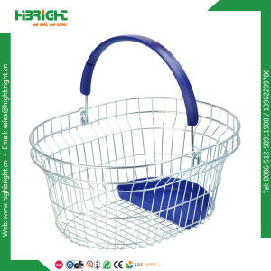 Metal Wire Round Oval Shopping Basket for Pharmacy Store pictures & photos