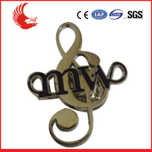 Factory Direct Sale Custom Metal Pin Badge/Music Shape Badge pictures & photos