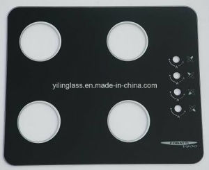 Color Fritted Tempered Glass for Gas Stove Top Panel pictures & photos