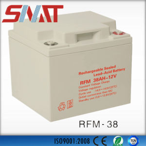 12V 38ah Auto Rechargeable Deep Cycle Valve Regulated VRLA Battery for Generator pictures & photos
