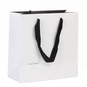 China Elegant Pink Card Paper Shopping Bag with Handle - China ...