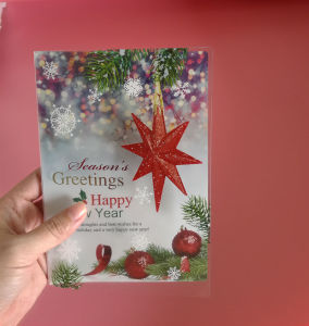 custom printing plastic greeting cards (festival card) pictures & photos