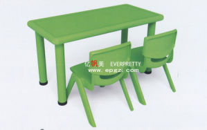 Popular Green Plastic Table and Chair for Kids (SF-17K-4) pictures & photos