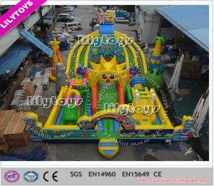 Giant Inflatable Spongebob Amusement Park for Kids Party (Lilytoys-New-031) pictures & photos
