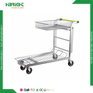 Nestable Logistic 2 Tiers Warehouse Cargo Trolley Cart pictures & photos