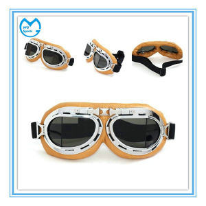 PU Leather Waraaped Around Foam OEM Harley Goggles pictures & photos