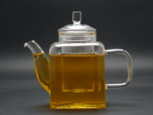 Hand Made High Quality Clear Glass Teapot Within Build-in Steel Infuser Teapot 450ml