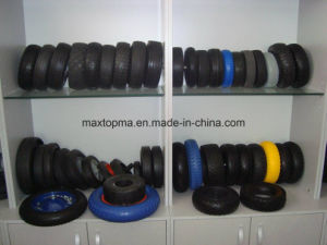 China 300-4 PU Foam Hand Trolley Wheel pictures & photos