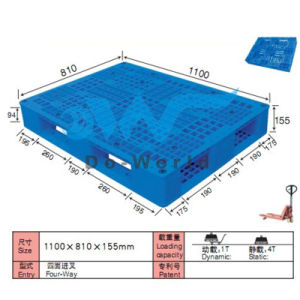 Durable Single Side Mesh Surface Plastic Pallet for Racking pictures & photos