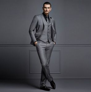 Tailored 3 Piece Wedding Dress Suit for Men Groom pictures & photos