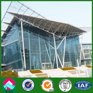 Prefab Steel Building with Glass Curtain Wall Cladding (XGZ-SSB085) pictures & photos