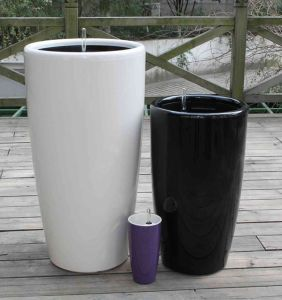 Plastic Self-Watering Flower Pot (FO-1302) pictures & photos