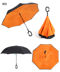 Popular Umbrella Inverted Windproof Reverse Folding Double Layer Inverted Umbrella pictures & photos