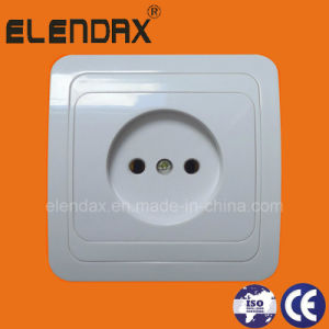 European Style Plastic Base 2 Pin Power Socket Outlet (F2009P) pictures & photos