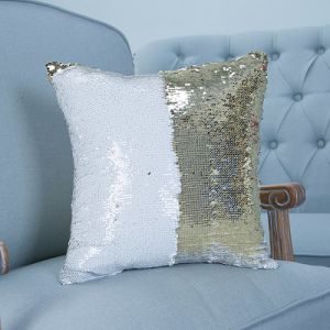 Full-Scale Sequin Embroidery Decorative Cushion/Pillow with Stripe Pattern (MX-01) pictures & photos