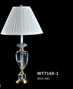 Elegance Hotel Bedside Desk Lamp with White Shade (WT7160-1) pictures & photos
