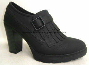 New Design Women Fashion Chunky High Heel Ankle Boots pictures & photos