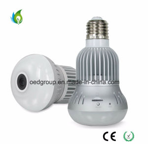 Panoramic Bulb Home Security Camera Wireless CCTV Bulb E27 360 Degree Panoramic Camera Monitoring Without Blind Area 100-240VAC with Audio pictures & photos