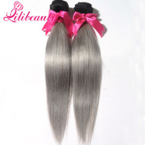 Mongolian Human Hair Ombre Hair Weaves Straight Hair pictures & photos