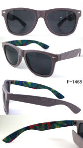Promotion Sunglasses P-1468wood Grain with Temple Printing