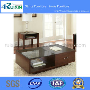 Modern Style Glass Top Coffee Table with Large Storage Drawer (Z160708-3F) pictures & photos