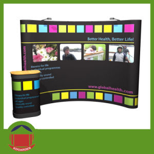 Dye Sublimation Printing Exhibition Curved Wall Banner pictures & photos