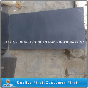 Honed Black Slate for Wall / Flooring / Roofing Tiles pictures & photos