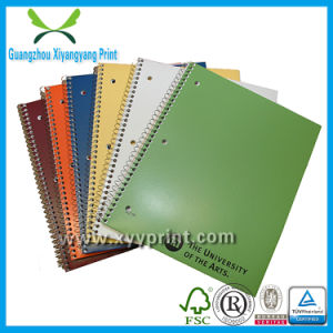 Custom Promotion Spiral School Paper Notebook with Eco Friendly Pen Wholesale pictures & photos