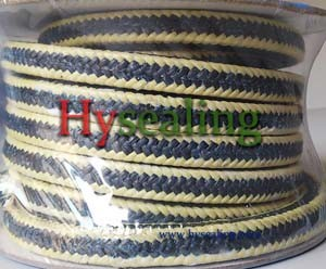PTFE Graphite with Aramid Fiber Corner Braided Packing pictures & photos