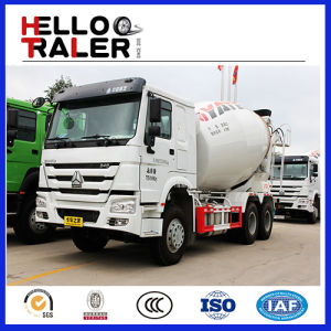 Chinese 6*4 Concrete Mixer Truck 9m3/ 10m3/ 266HP~380HP pictures & photos