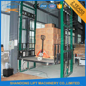1000kg Vertical Guide Rail Hydraulic Cargo Lift Ce Proved pictures & photos