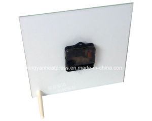 Square Glass Frame Clock with Stand pictures & photos