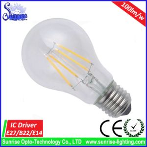 100lm/W A60 4W LED Filament Incandescent Bulb